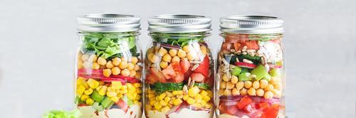Como fazer salada de pote para a semana?